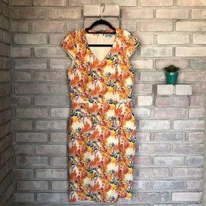 Floral, bright dress. Antonio Melani